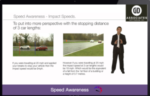 gda Speed awreness screen