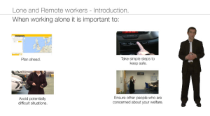 lone and remote workers - introduction