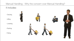 manual handling - why the concern
